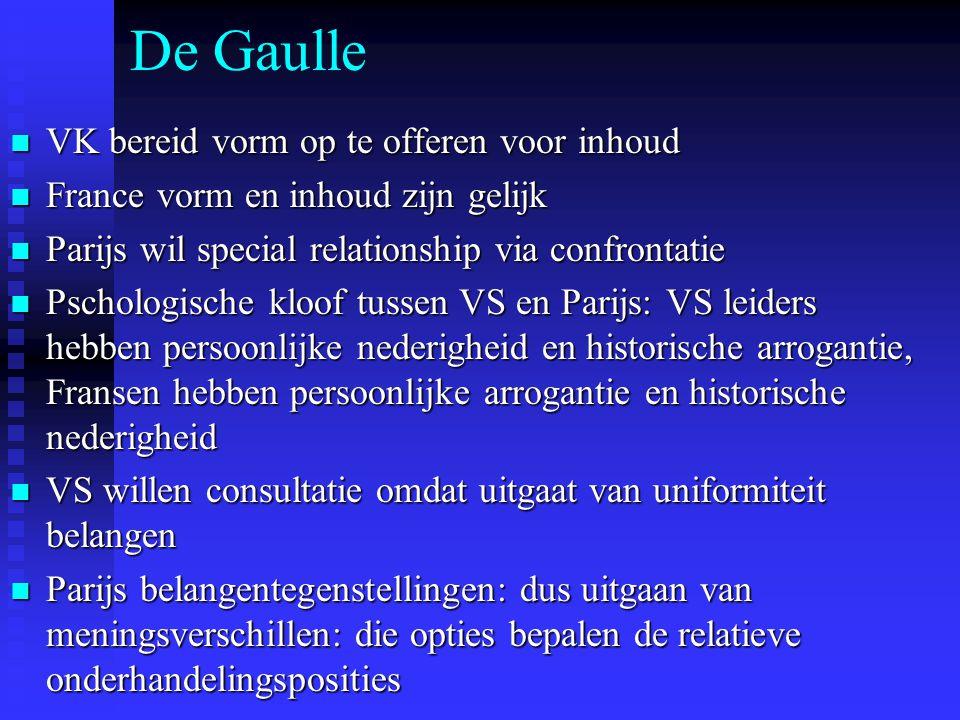 De Gaulle VK bereid vorm op te offeren voor inhoud