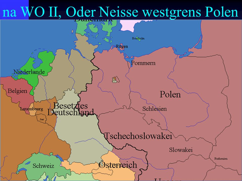 na WO II, Oder Neisse westgrens Polen