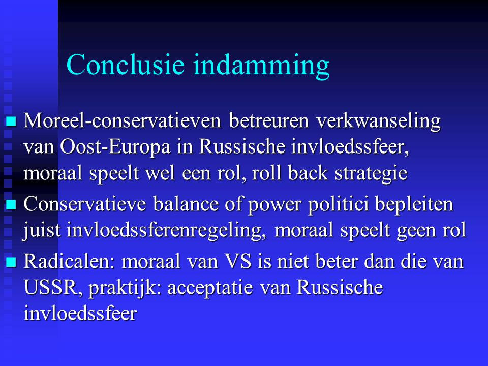 Conclusie indamming