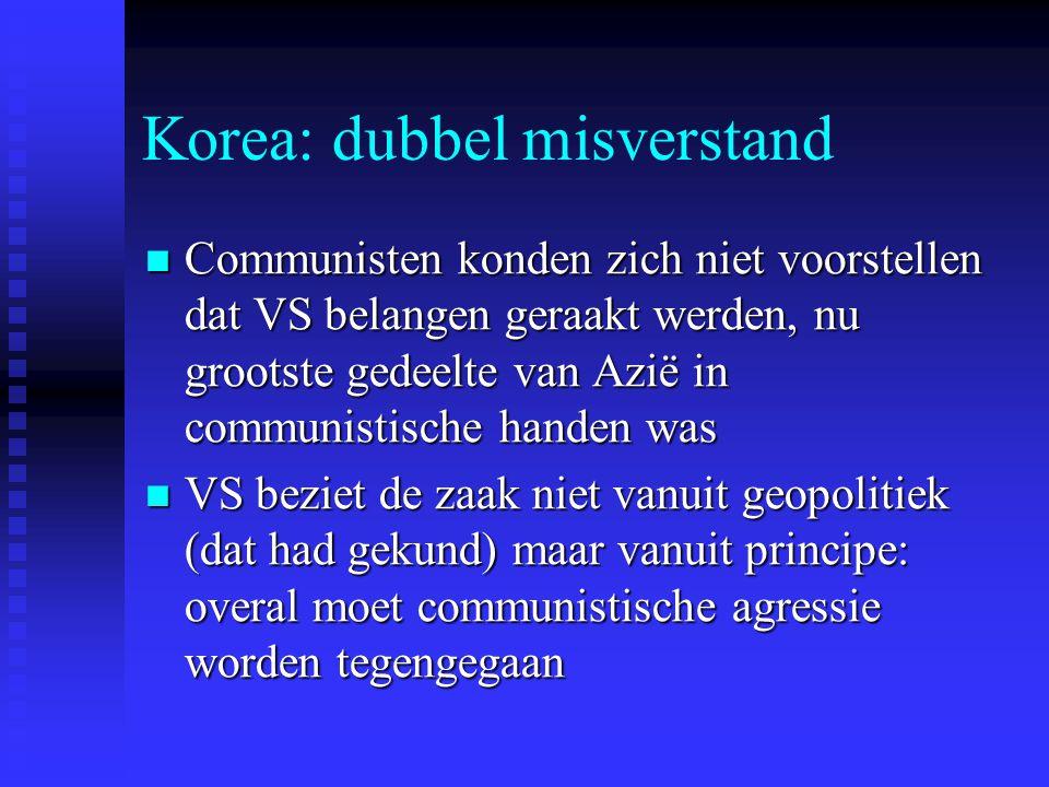 Korea: dubbel misverstand