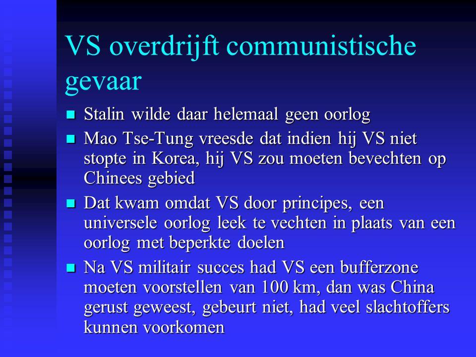 VS overdrijft communistische gevaar