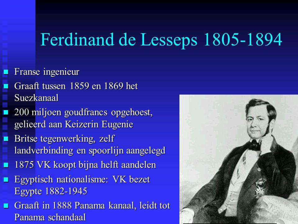 Ferdinand de Lesseps 1805-1894 Franse ingenieur