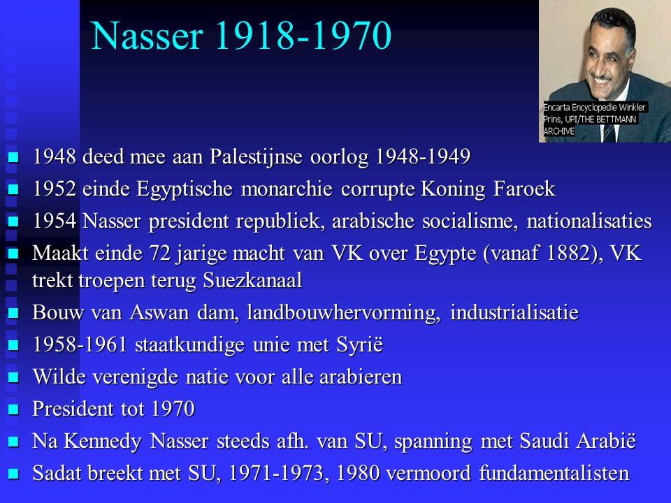 Nasser 1918-1970 1948 deed mee aan Palestijnse oorlog 1948-1949