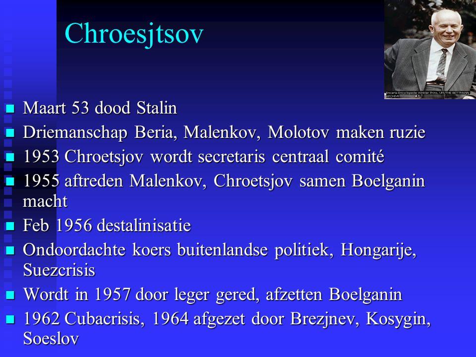 Chroesjtsov Maart 53 dood Stalin