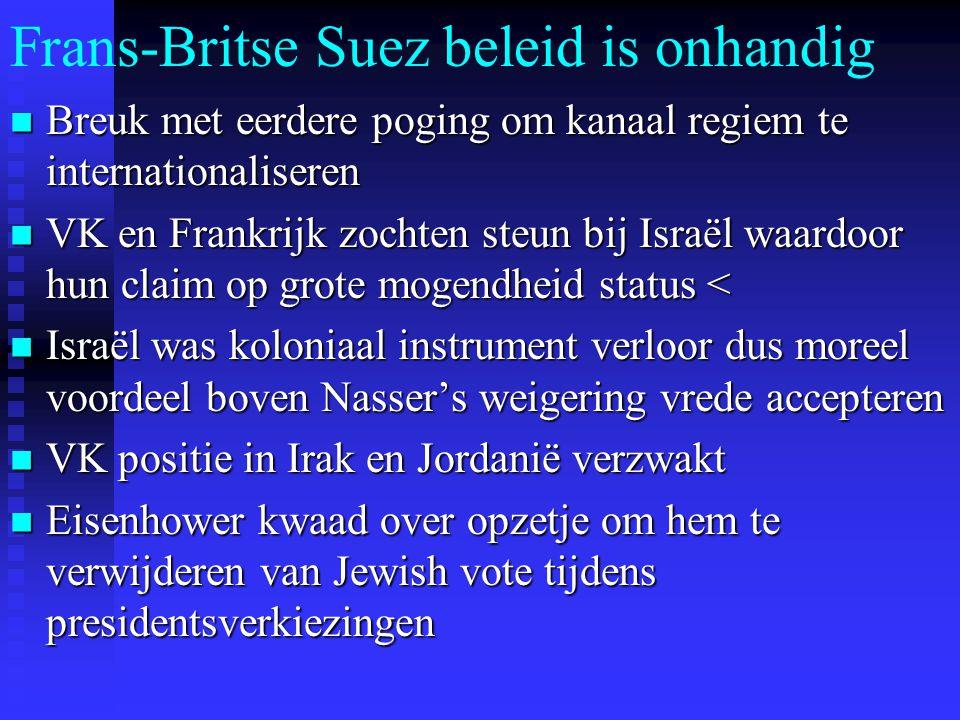 Frans-Britse Suez beleid is onhandig