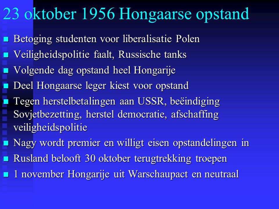 23 oktober 1956 Hongaarse opstand
