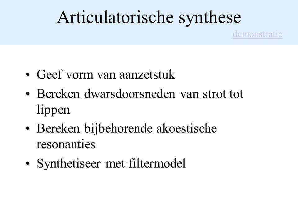 Articulatorische synthese