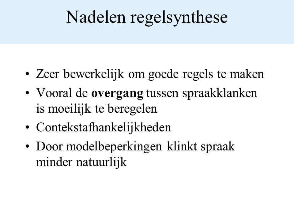 Nadelen regelsynthese