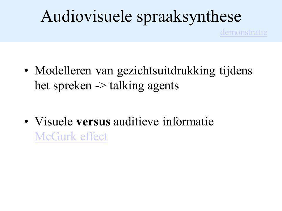 Audiovisuele spraaksynthese