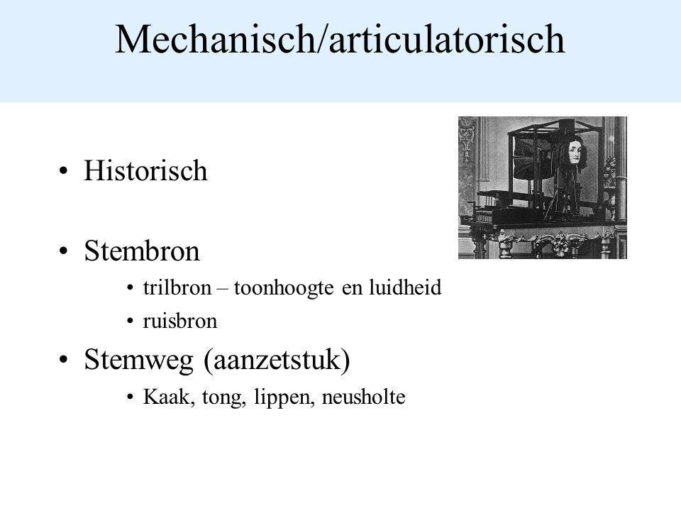Mechanisch/articulatorisch