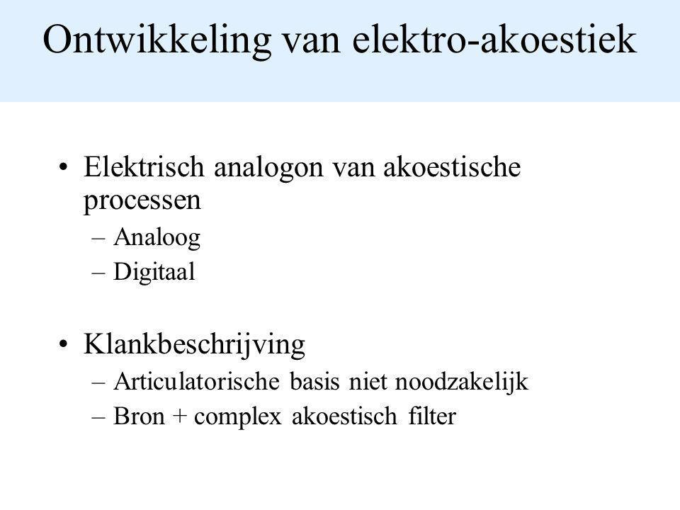 Ontwikkeling van elektro-akoestiek