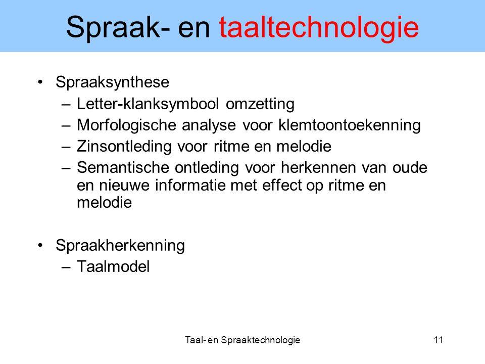 Spraak- en taaltechnologie