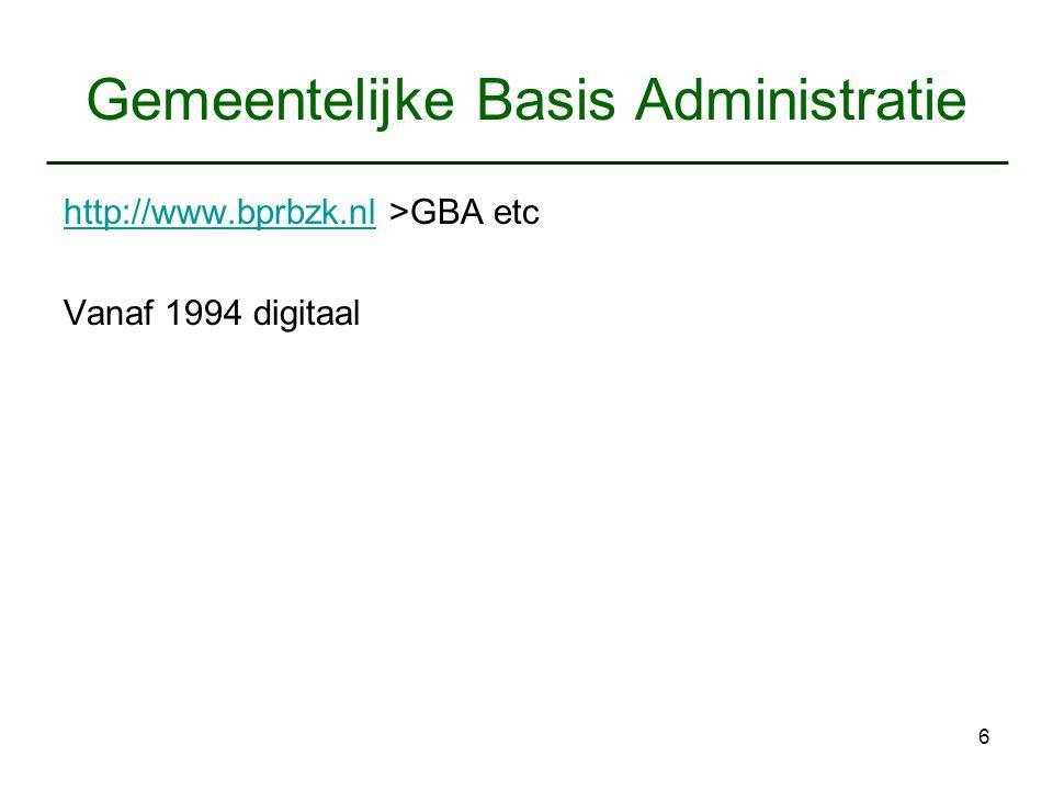 Gemeentelijke Basis Administratie