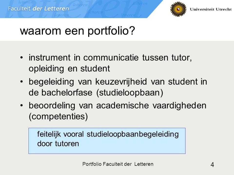 Portfolio Faculteit der Letteren