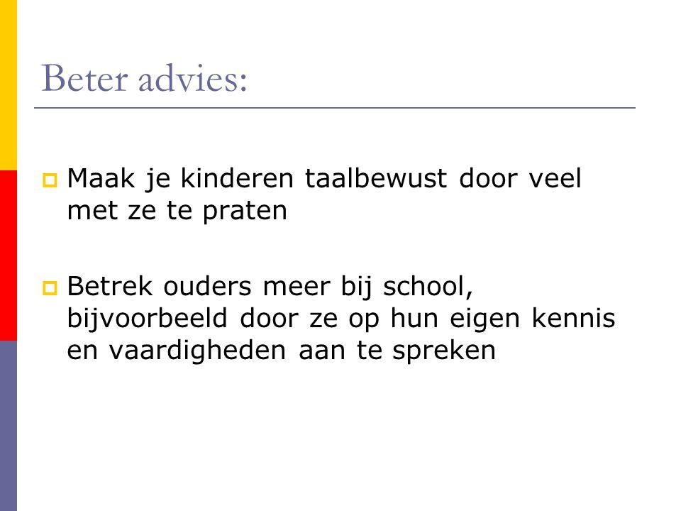 Beter advies: Maak je kinderen taalbewust door veel met ze te praten