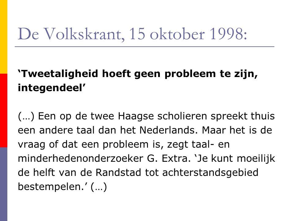 De Volkskrant, 15 oktober 1998:
