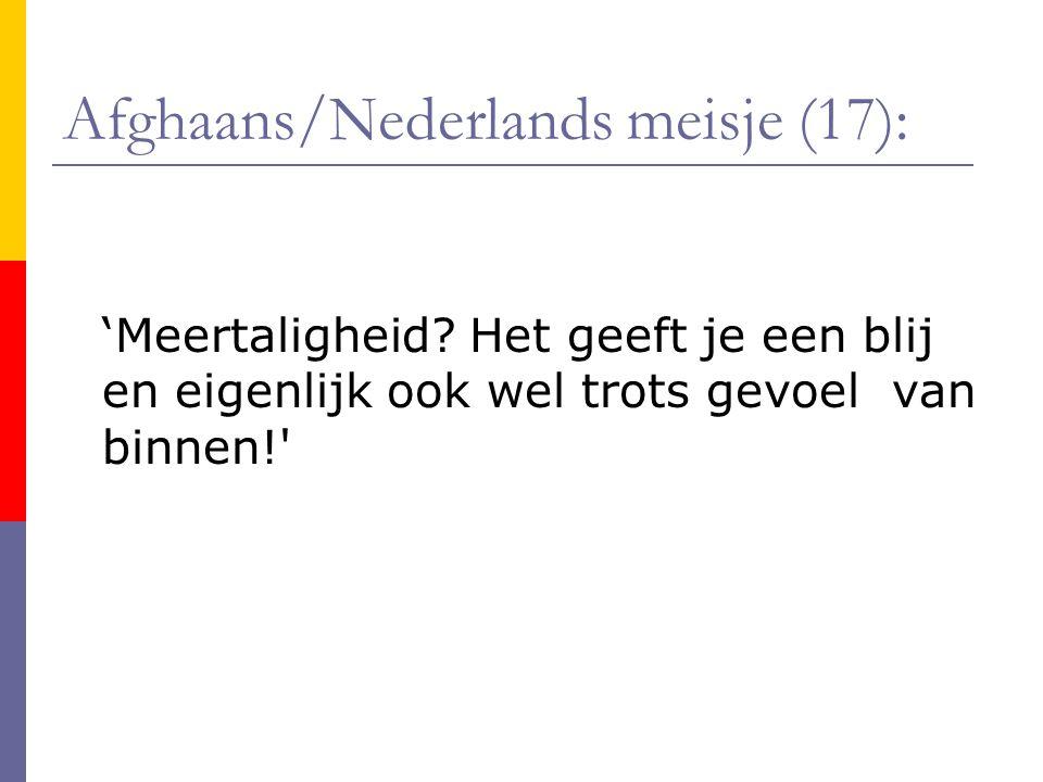Afghaans/Nederlands meisje (17):