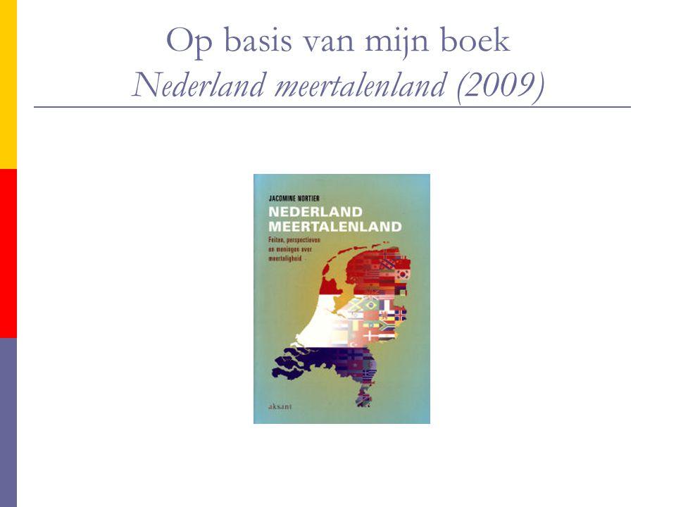 Op basis van mijn boek Nederland meertalenland (2009)