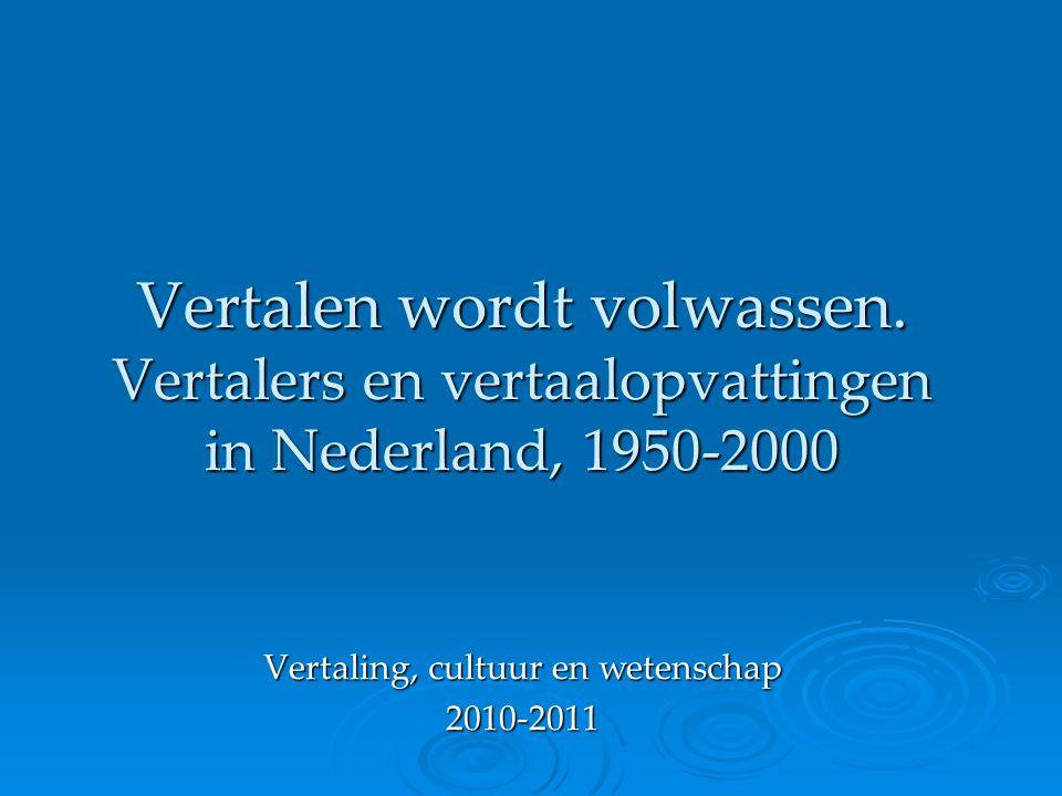 Vertaling, cultuur en wetenschap 2010-2011