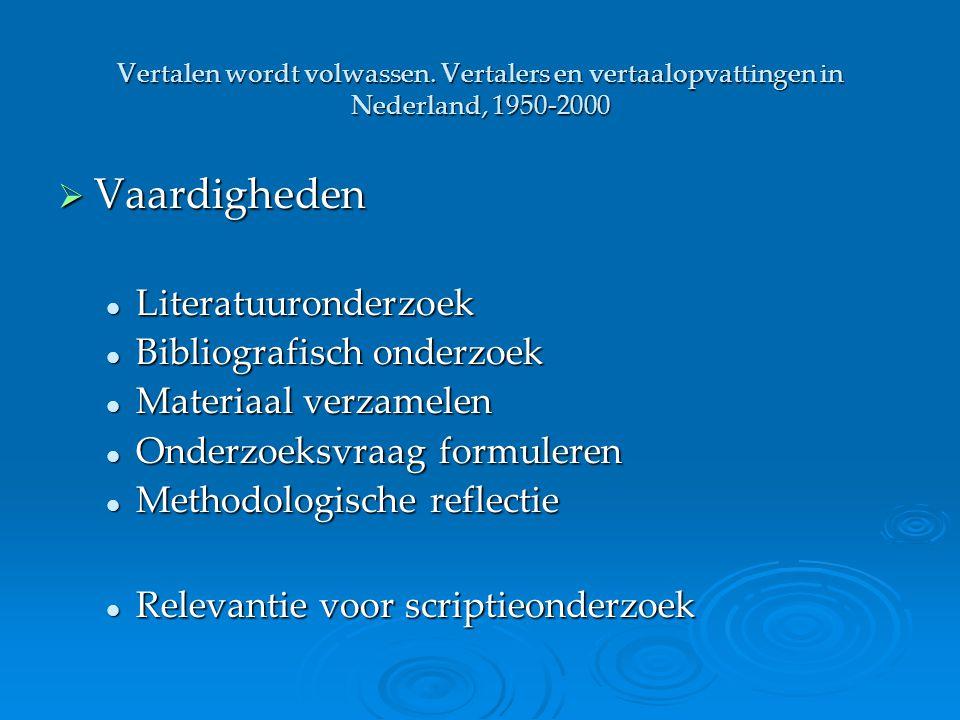 Vaardigheden Literatuuronderzoek Bibliografisch onderzoek