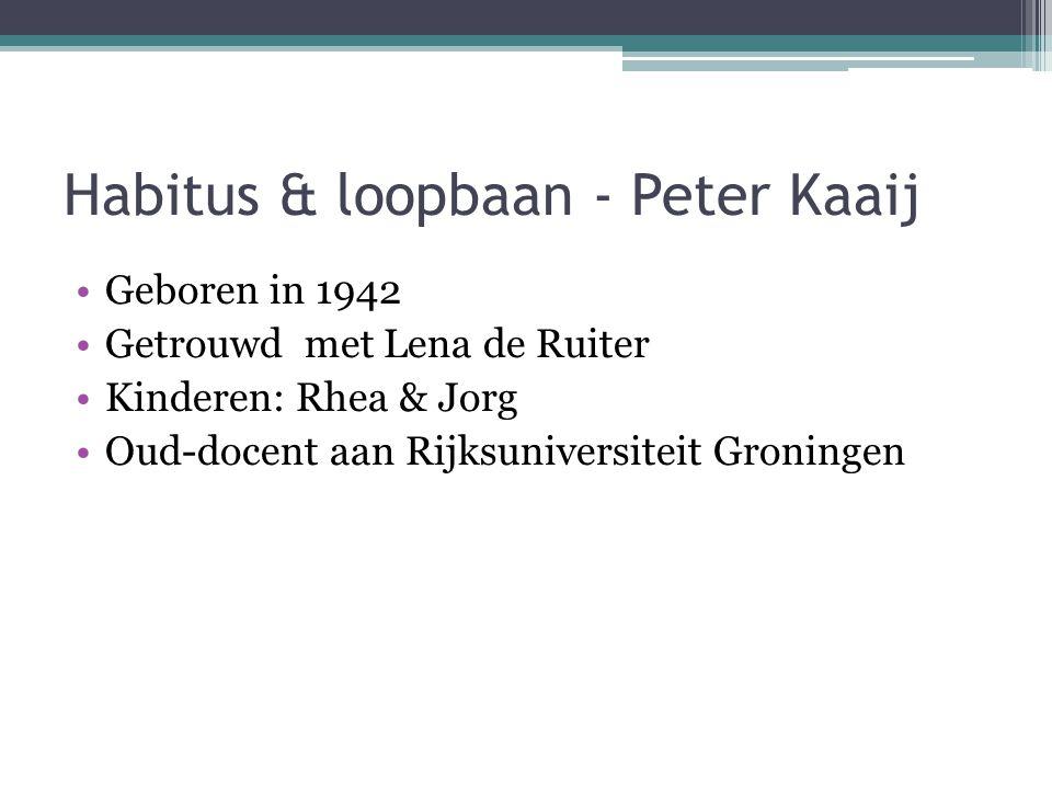 Habitus & loopbaan - Peter Kaaij