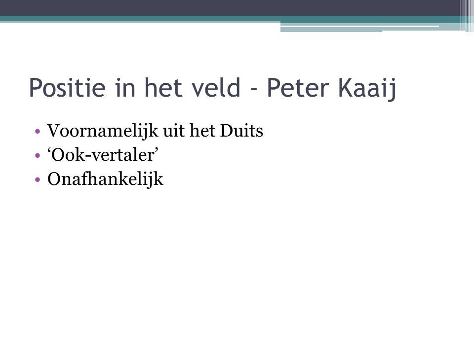 Positie in het veld - Peter Kaaij