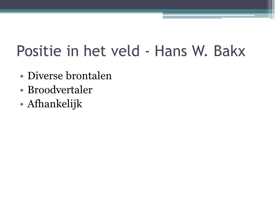 Positie in het veld - Hans W. Bakx