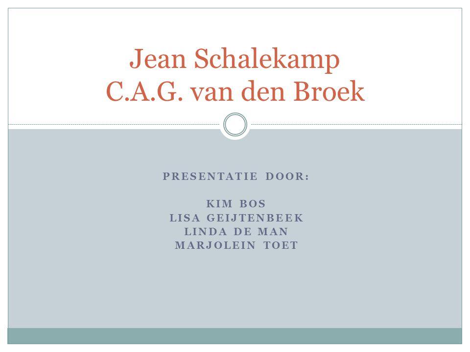 Jean Schalekamp C.A.G. van den Broek