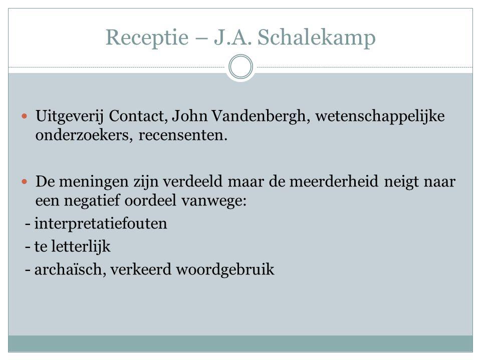Receptie – J.A. Schalekamp