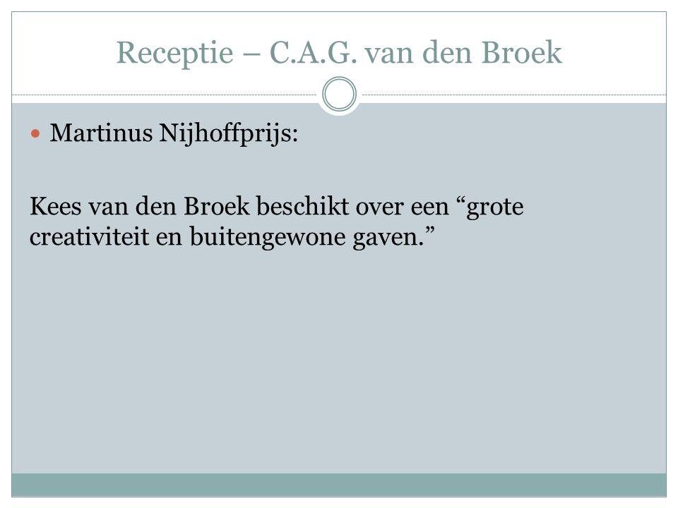 Receptie – C.A.G. van den Broek