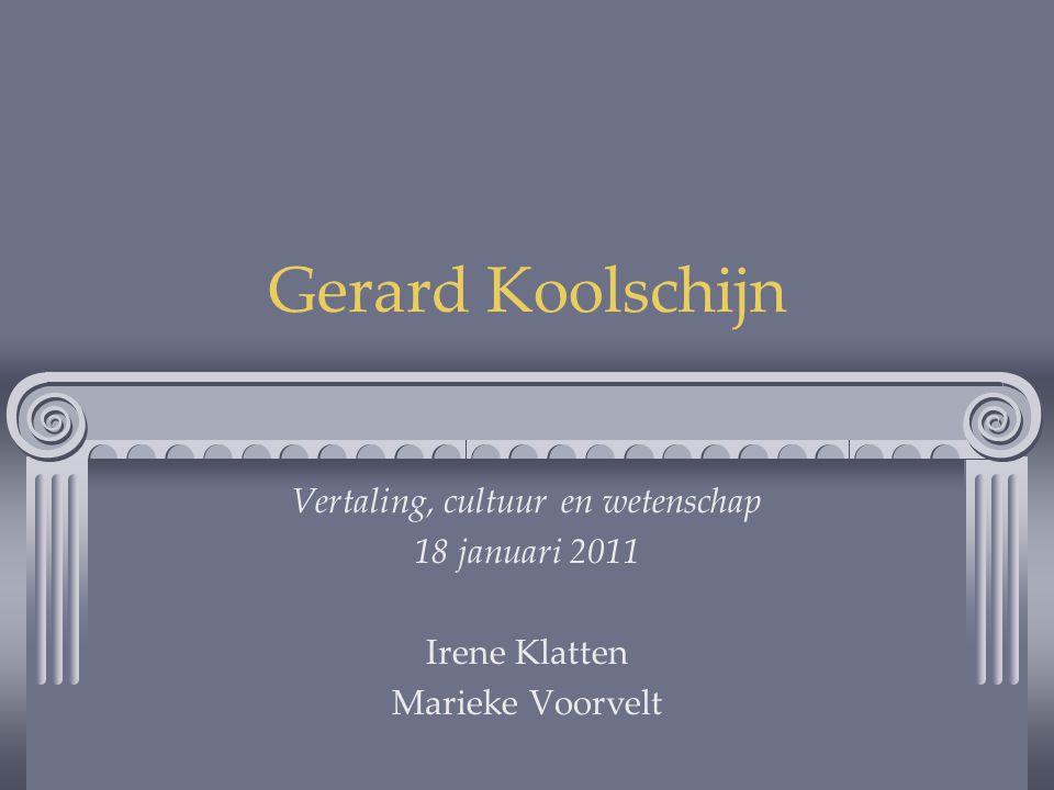 Vertaling, cultuur en wetenschap