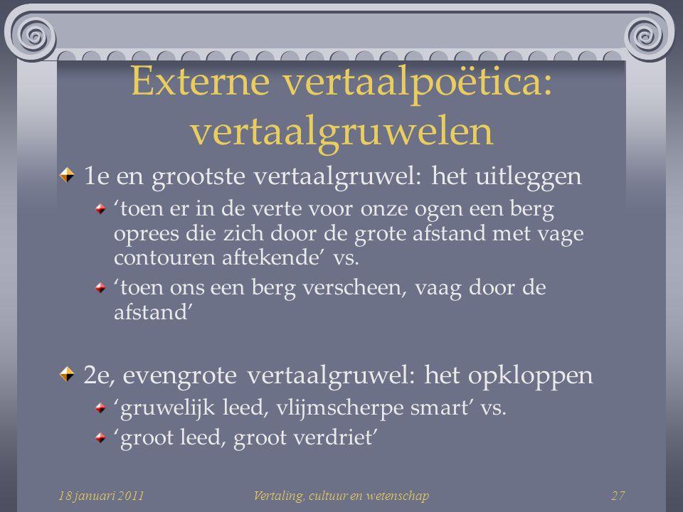 Externe vertaalpoëtica: vertaalgruwelen