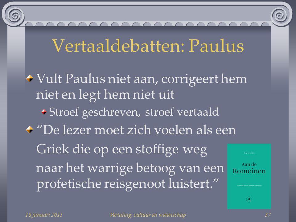 Vertaaldebatten: Paulus