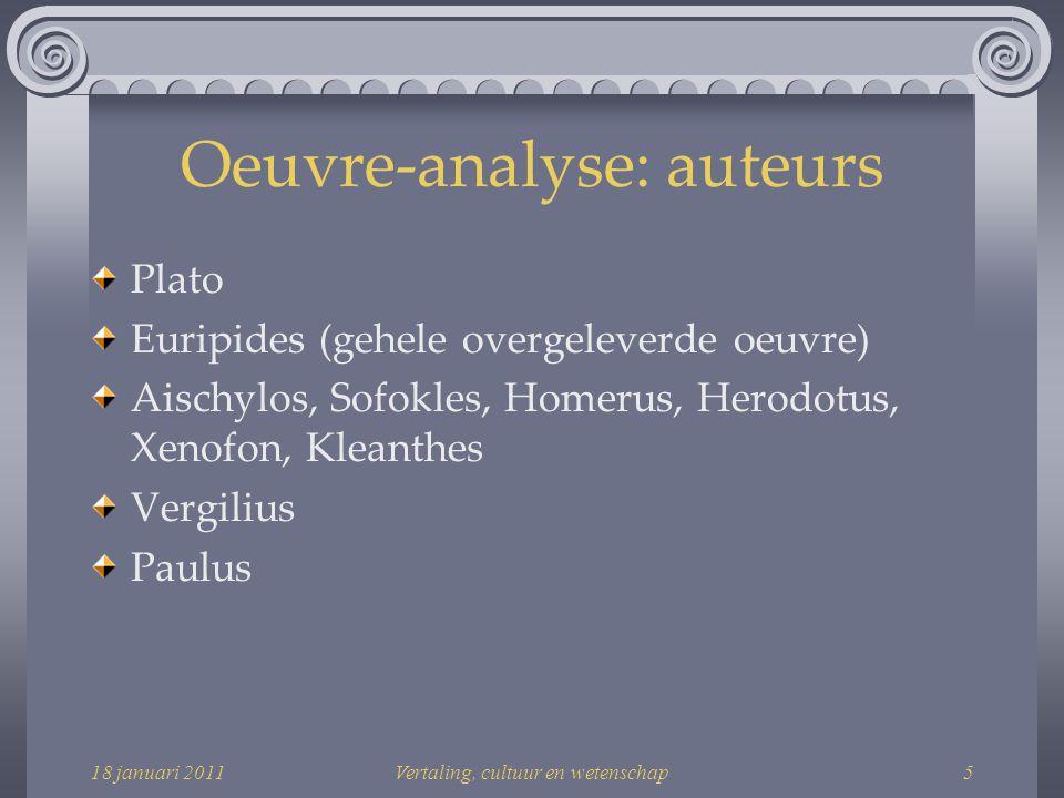 Oeuvre-analyse: auteurs