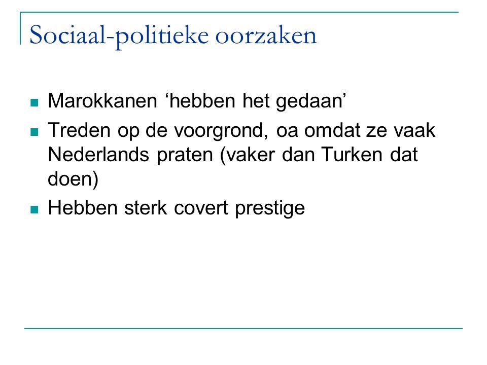 Sociaal-politieke oorzaken