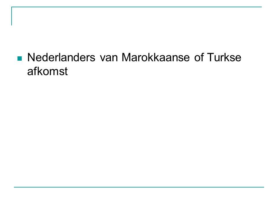 Nederlanders van Marokkaanse of Turkse afkomst
