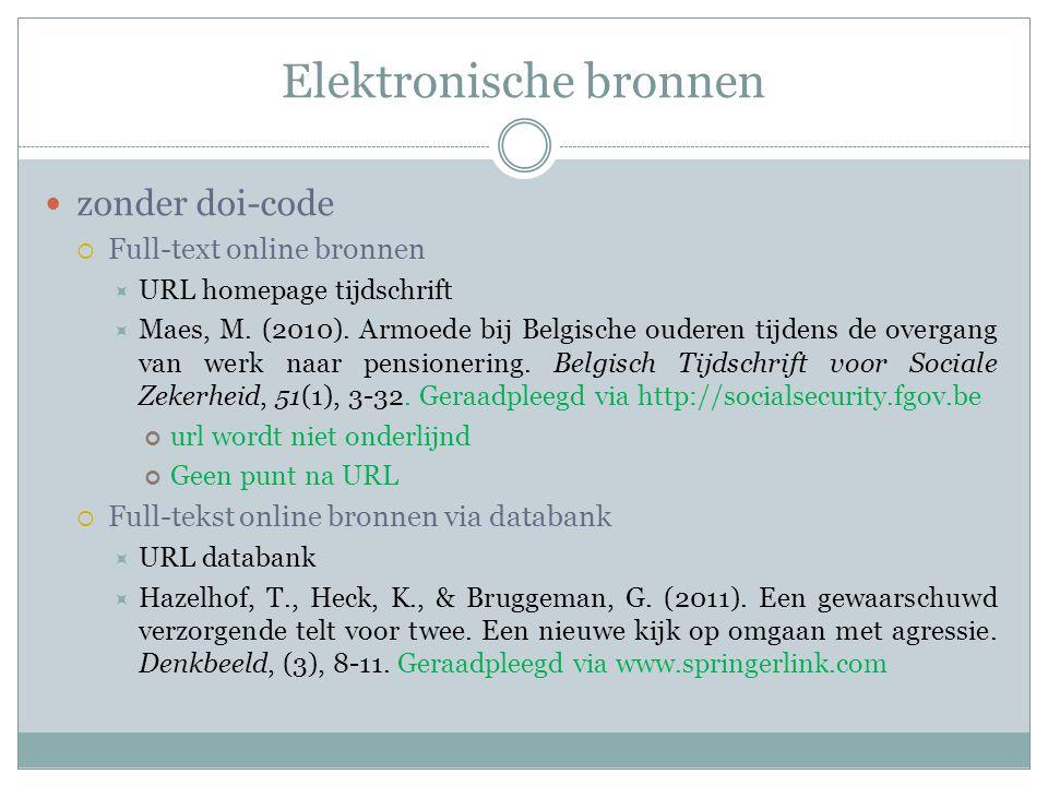 Elektronische bronnen