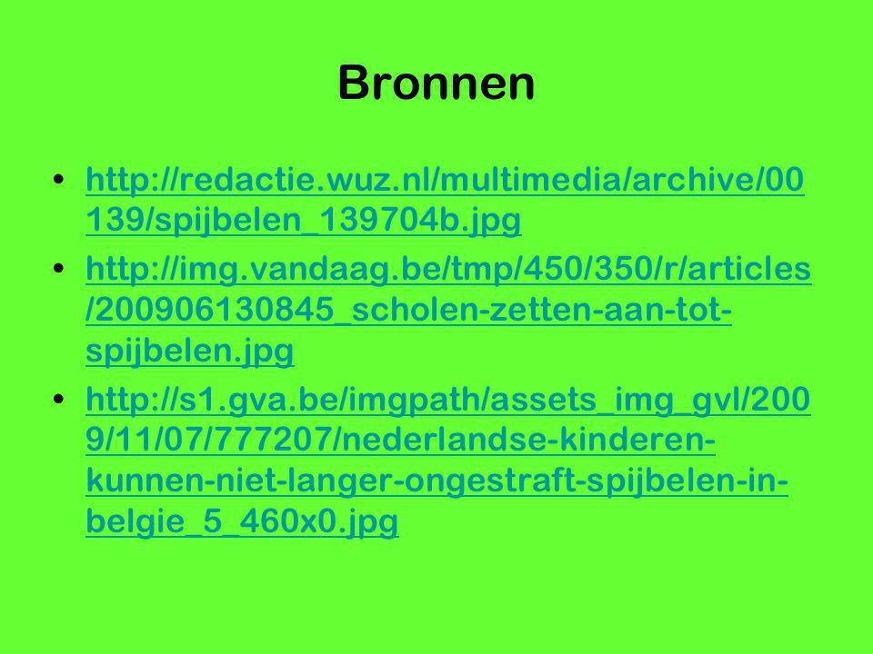 Bronnen http://redactie.wuz.nl/multimedia/archive/00139/spijbelen_139704b.jpg.