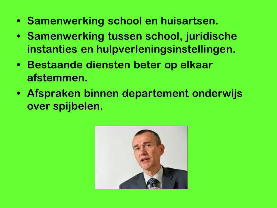 Samenwerking school en huisartsen.