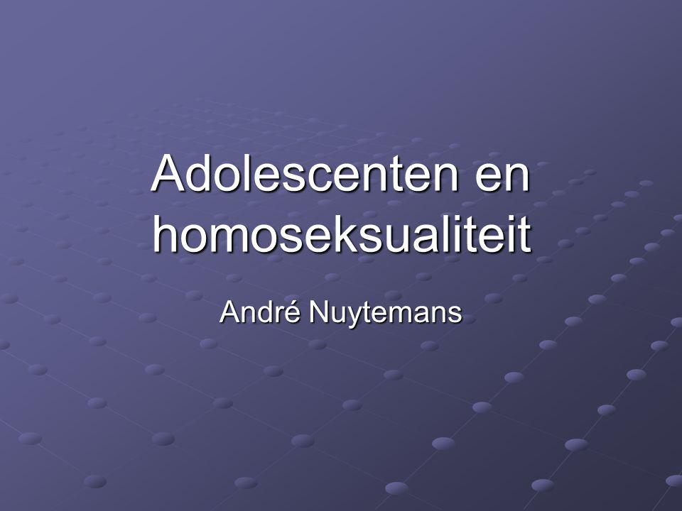 Adolescenten en homoseksualiteit