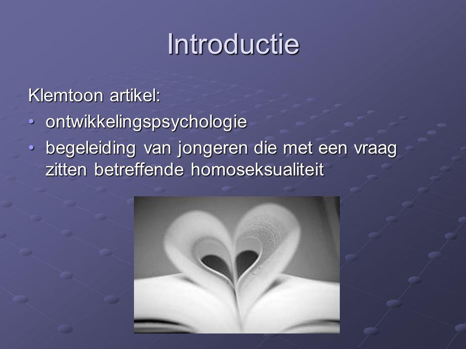 Introductie Klemtoon artikel: ontwikkelingspsychologie