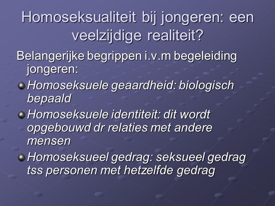 Homoseksualiteit bij jongeren: een veelzijdige realiteit