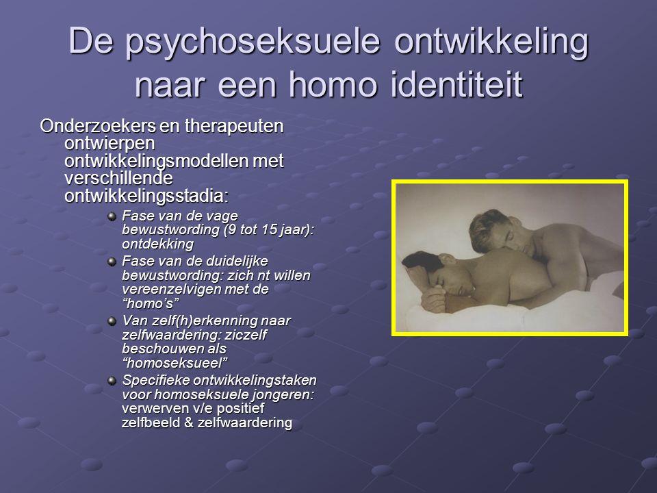 De psychoseksuele ontwikkeling naar een homo identiteit
