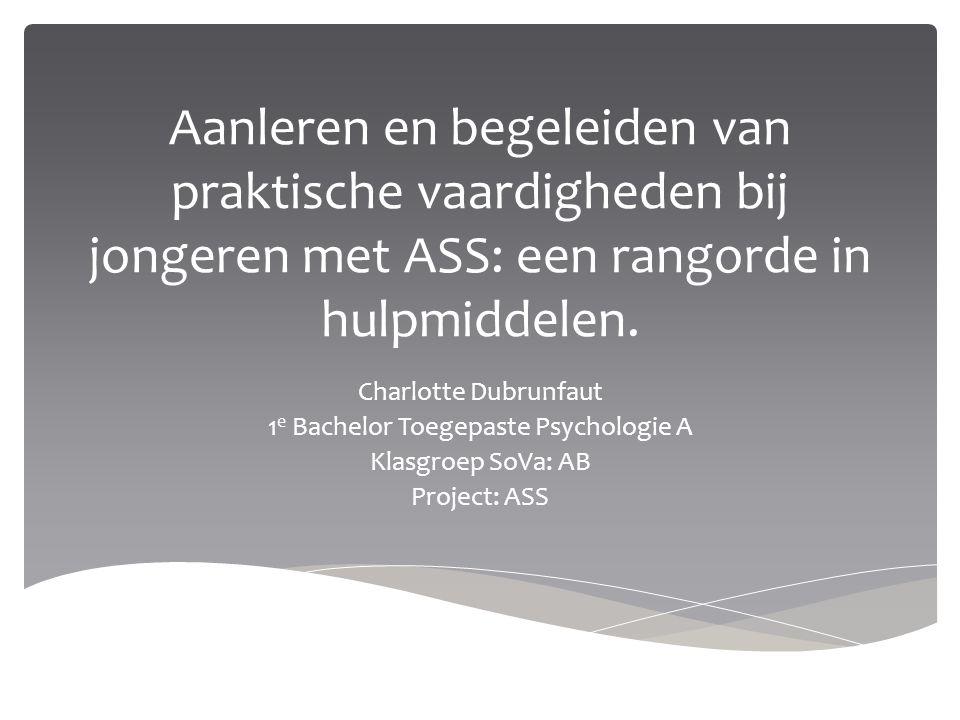 1e Bachelor Toegepaste Psychologie A