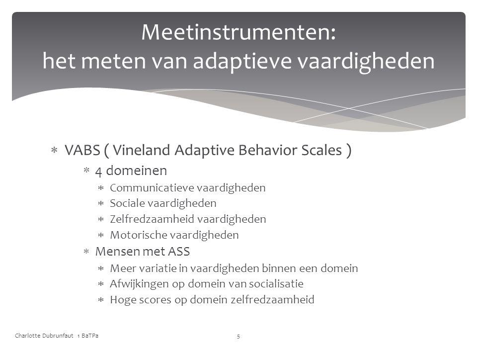 Meetinstrumenten: het meten van adaptieve vaardigheden