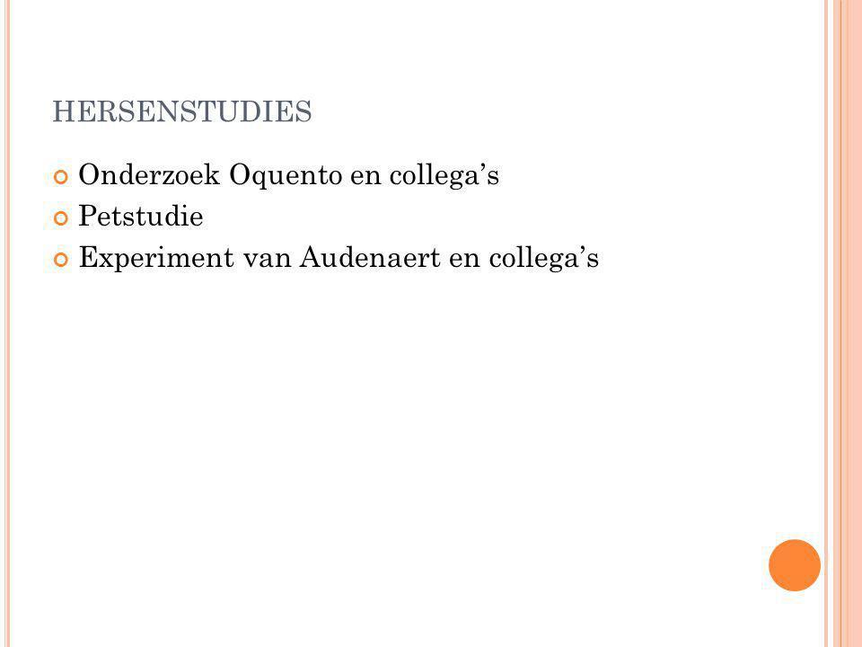 hersenstudies Onderzoek Oquento en collega's Petstudie