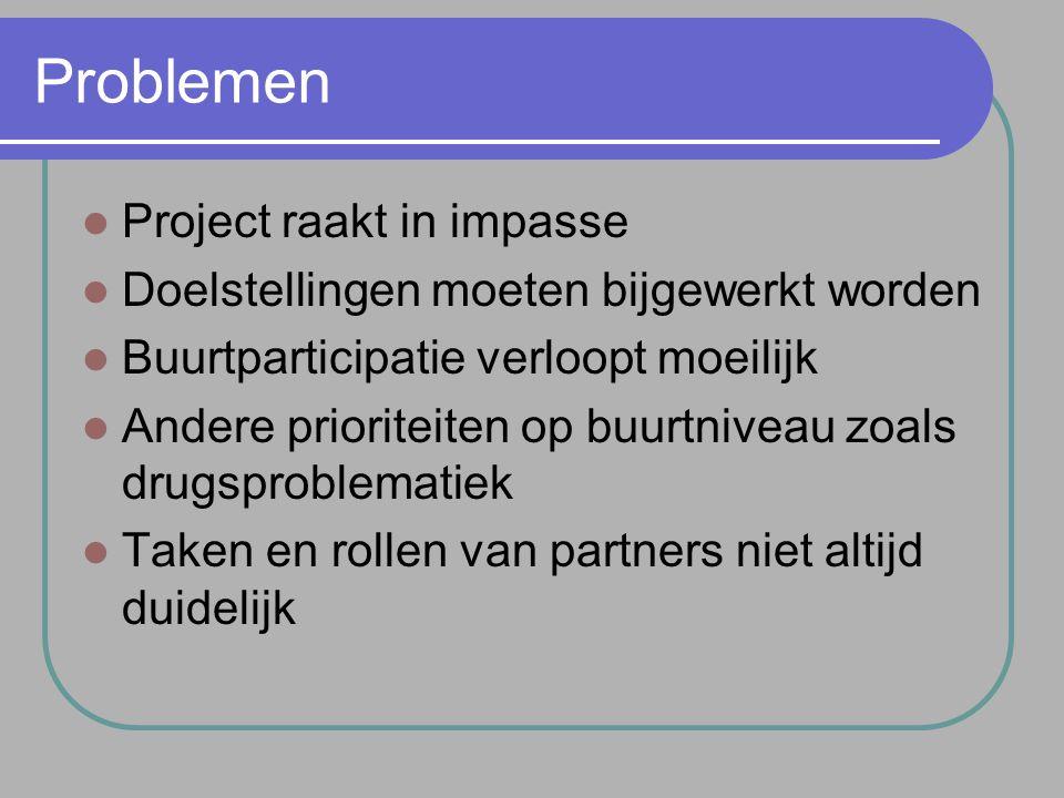 Problemen Project raakt in impasse