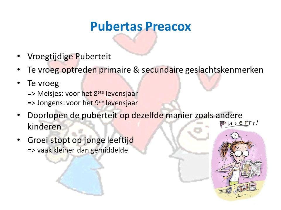 Pubertas Preacox Vroegtijdige Puberteit