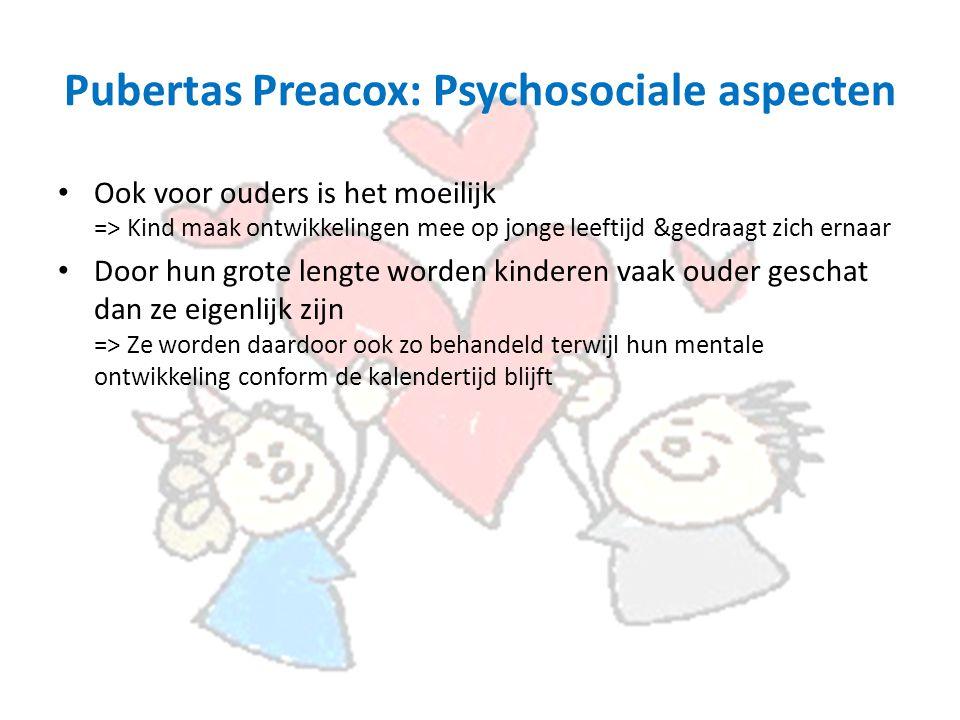 Pubertas Preacox: Psychosociale aspecten