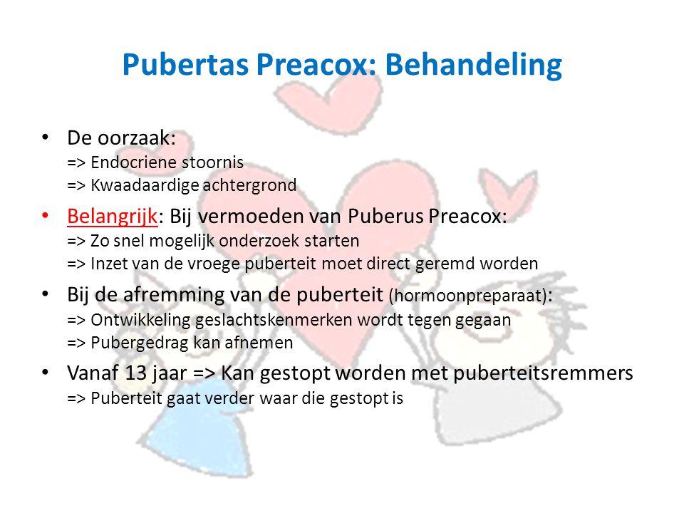 Pubertas Preacox: Behandeling